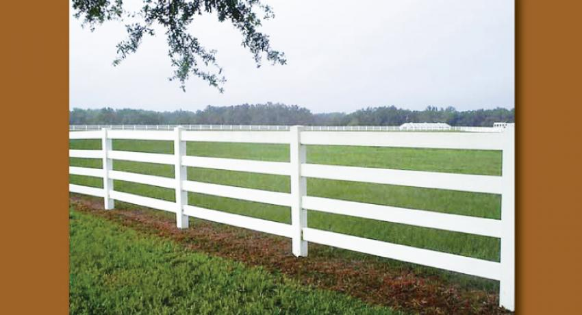 white vinyl fencing horse and farm